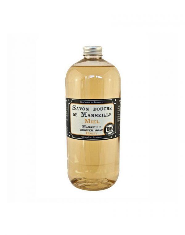Savon douche de Marseille parfum Miel (1L)