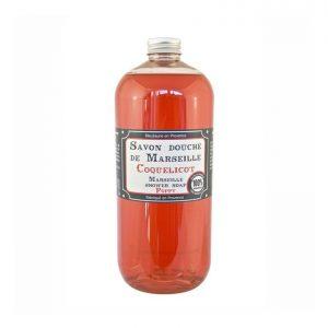 Savon douche de Marseille parfum Coquelicot (1L)