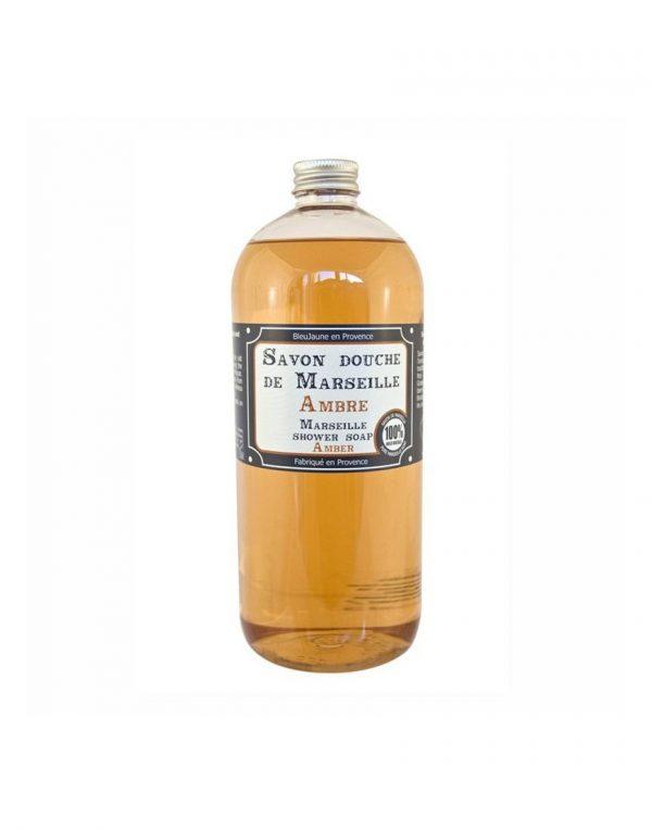 Savon douche de Marseille parfum Ambre (1L)