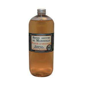 Savon douche de Marseille parfum Fleur d'Oranger (1L)