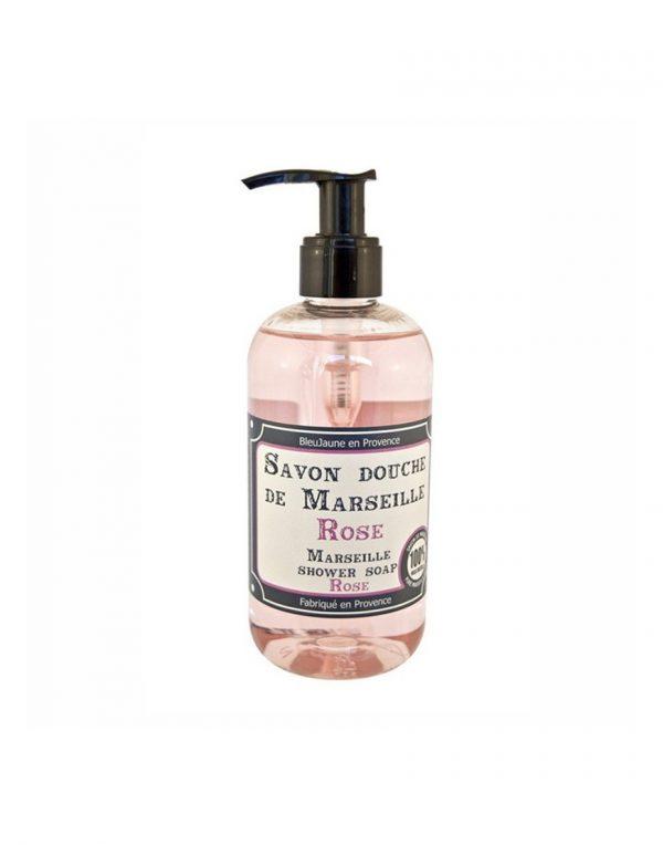 Savon douche de Marseille parfum Rose (300ml)