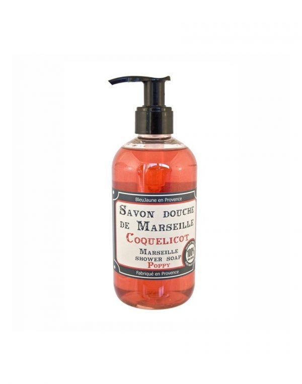 Savon douche de Marseille parfum Coquelicot (300ml)