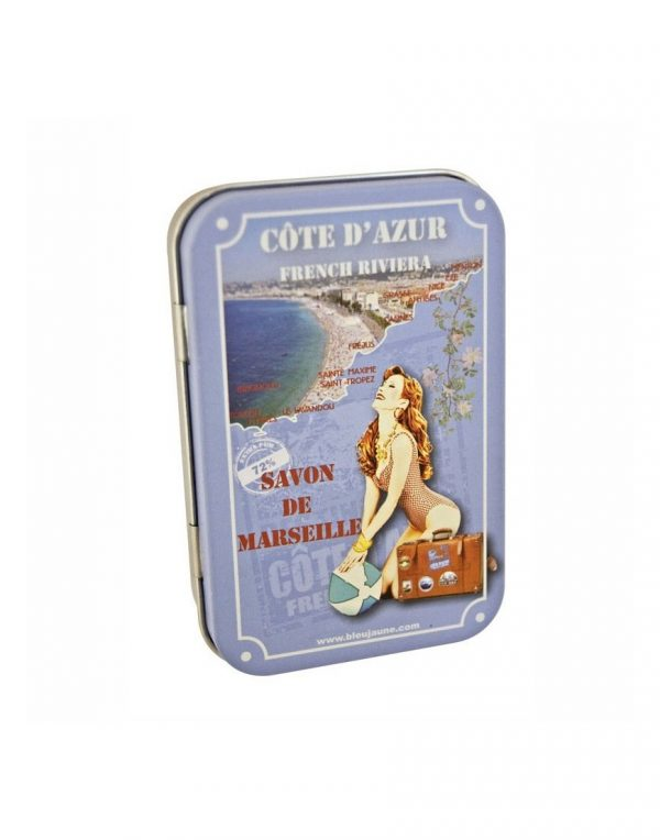 Boite Porte Savon Métallique modèle French Riviera