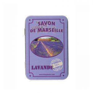 Boite Porte Savon Métallique modèle Lavande