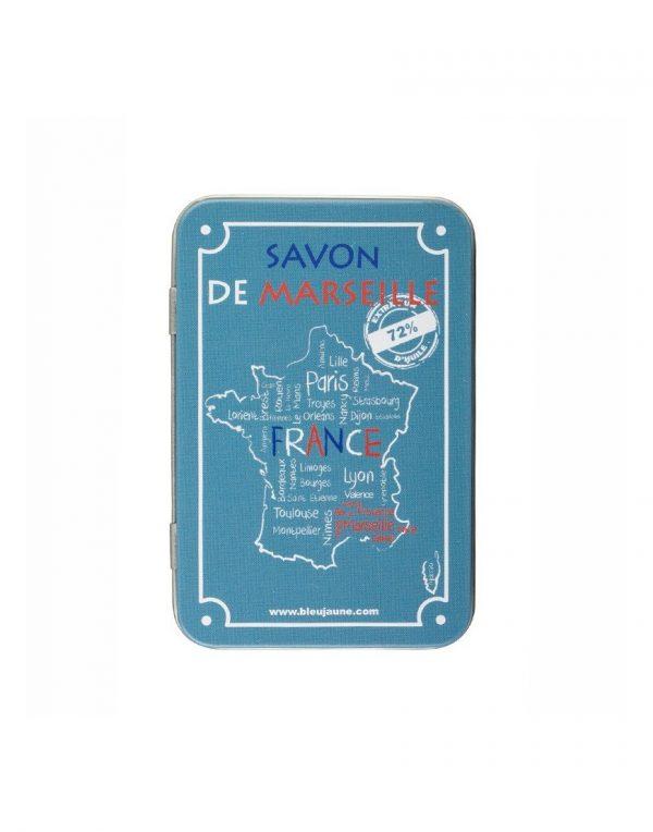 Boite Porte Savon Métallique modèle France