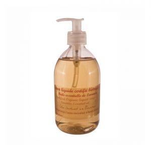 Savon BIO liquide Certifié Ecocert à l'huile essentielle de lavande (500ml)