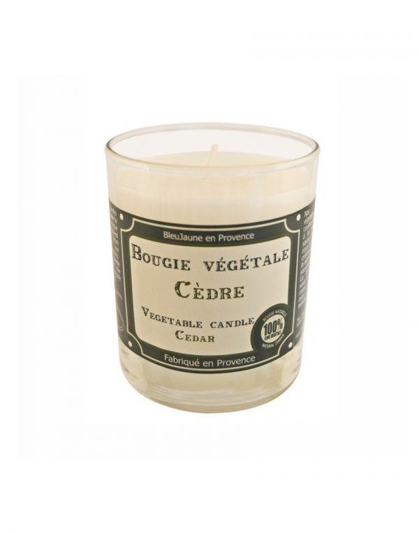 Bougie de Marseille 100% végétale parfum Cèdre
