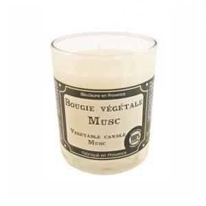 Bougie de Marseille 100% végétale parfum Musc