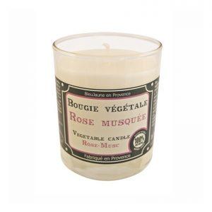 Bougie de Marseille 100% végétale parfum Rose Musqué