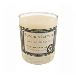 Bougie de Marseille 100% végétale parfum Savon de Marseille