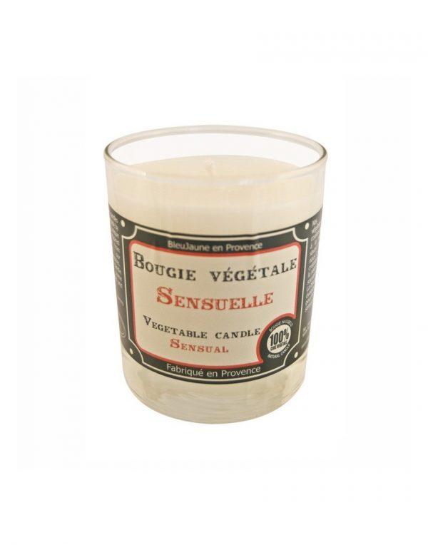 Bougie de Marseille 100% végétale parfum Sensuelle