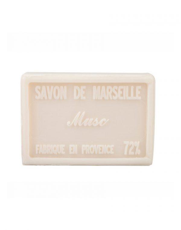 Savon de Marseille au beurre de karité pur végétal parfum Musc Blanc