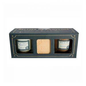 Selfies de Provence Bougie / Savon cube de Marseille Orange / Sel de Bain parfum Cannelle-Orange